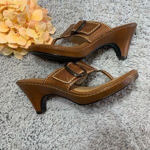 Nurture Leather Heel Sandals